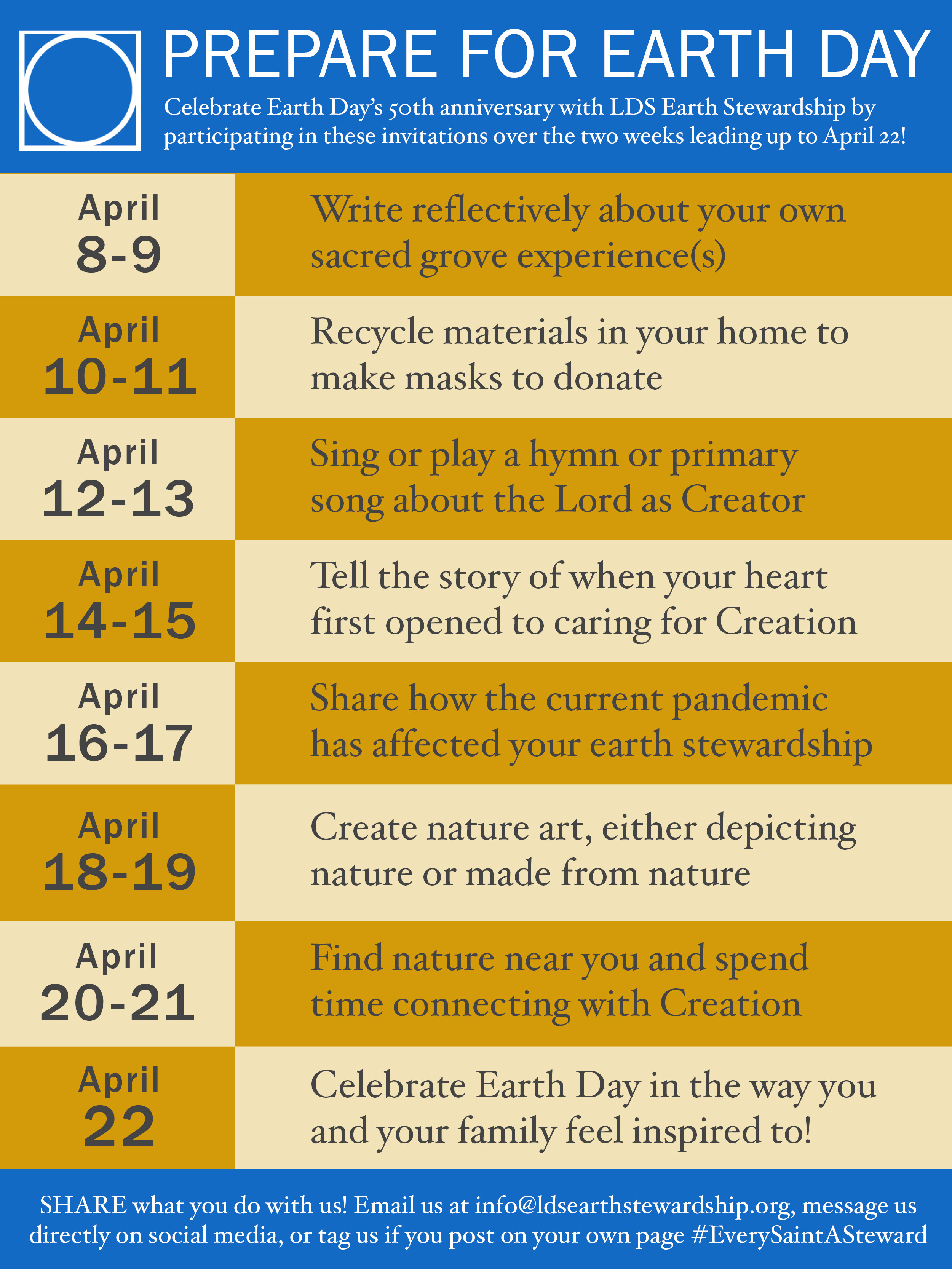 EarthDayInvitations schedule
