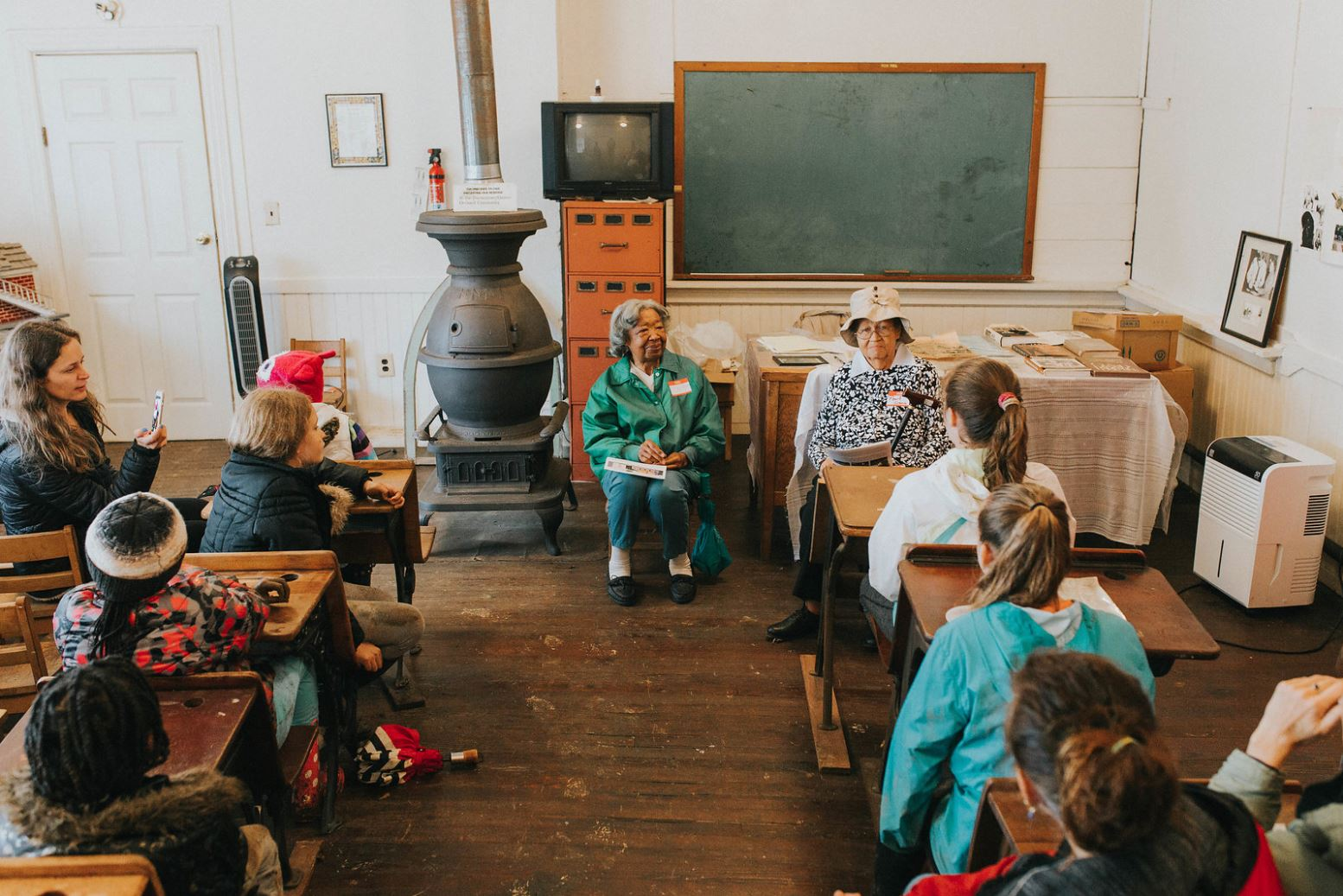Teaching in the historic schoolroom (photo by Caitlin Moulton of Caitlin Marie Photography)